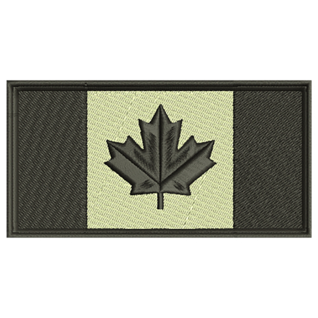 Black and Tan Canadian Flag Patch Preview