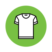 an icon representing apparel and products