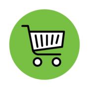 icon representing the purchase of our products and services