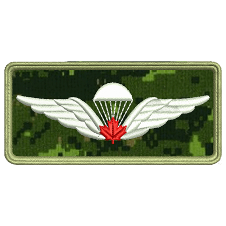 Red Parachutist Wing Patch Preview