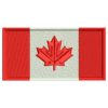 Red and White Canadian Flag Patch Preview