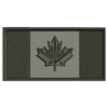 Black and Grey Canadian Flag Patch Preview